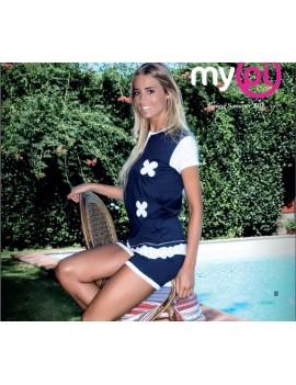 MyPi pigiama donna cotone cotone corto art 1401