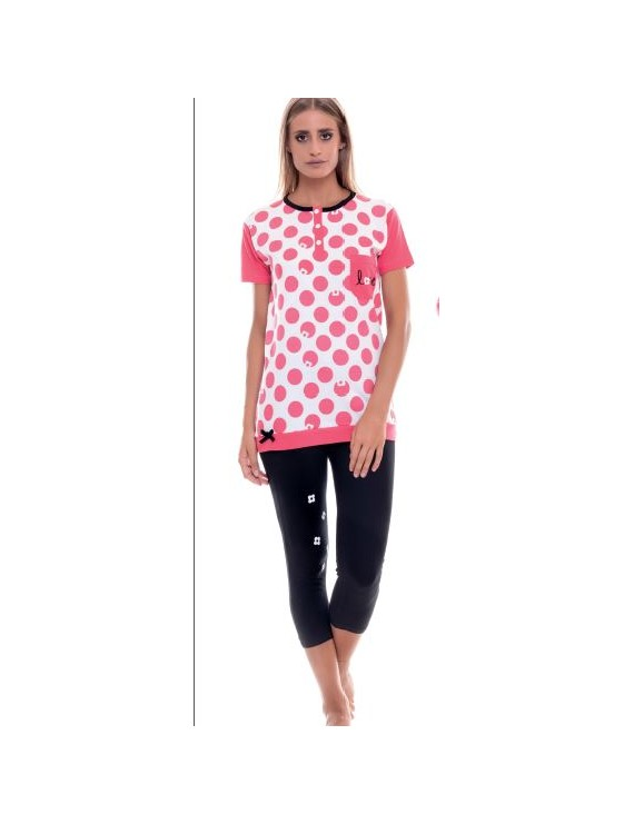 MYPI pigiama donna cotone leggings e t-shirt art 1430