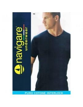 Navigare T-shirt uomo Caldo cotone scollo V art 112