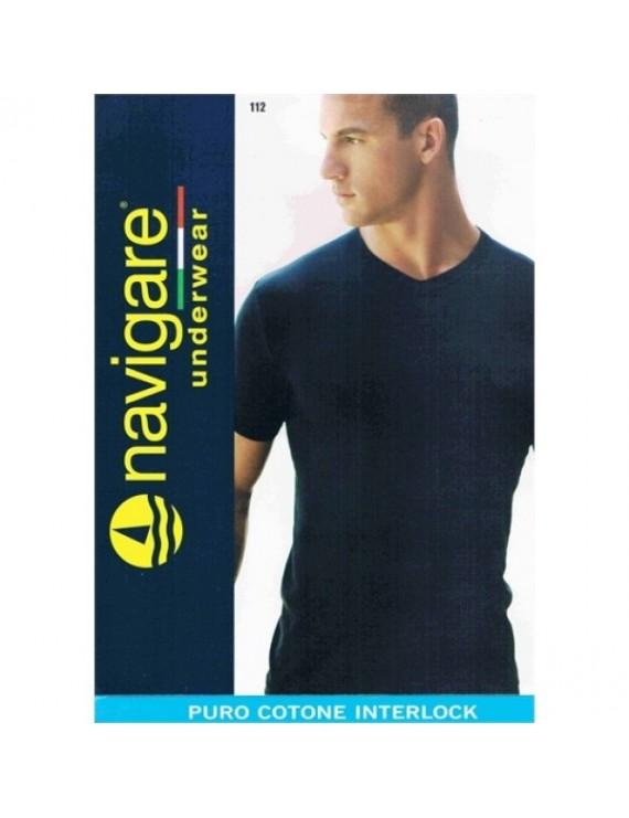 T-shirt uomo Navigare Caldo cotone scollo V art 112