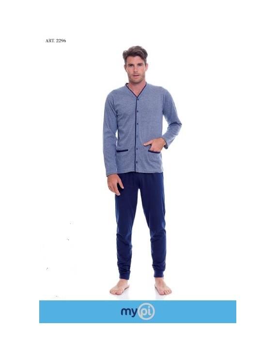 MY PI Pigiama uomo cotone giacca aperta art 2296
