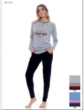 MYPI Pigiama donna cotone invernale art 2516