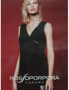 ROSSOPORPORA Top in maglina brillante art LE159
