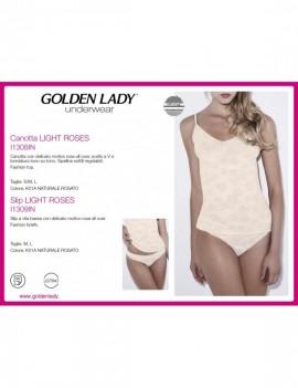 GOLDELN LADY Slip LIGHT ROSES art 1309