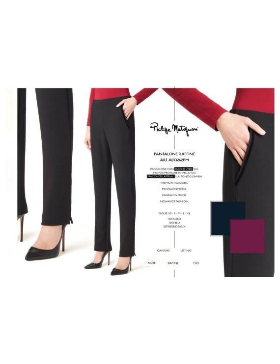 PHILIPPE MATIGNON  Pantalone RAFFINE' art 13242