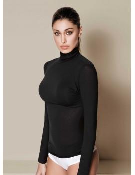 JADEA Maglia manica lunga  collo alto con cashmere art 4066