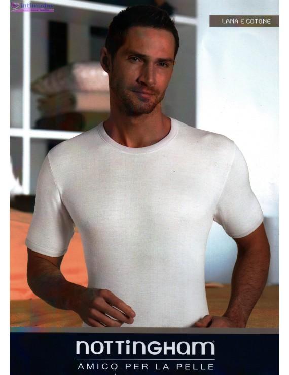 T-shirt uomo Nottingham girocollo lana e cotone Nottingham