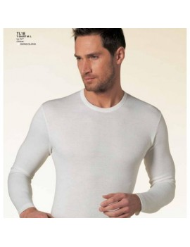 Nottingham maglia uomo girocollo lana e cotone manica lunga art TL18
