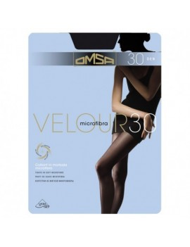 OMSA Velour 30 Collant microfibra semicoprente - 3 pz