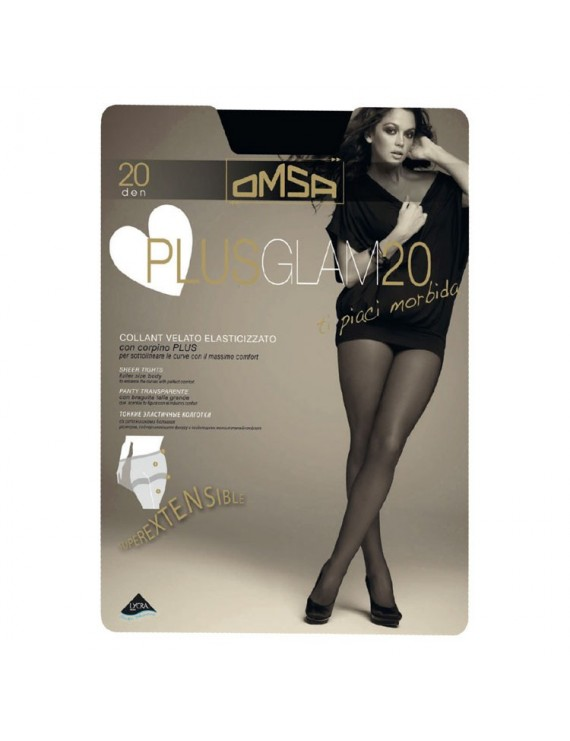 Collant velato Plus Glam 20 Omsa