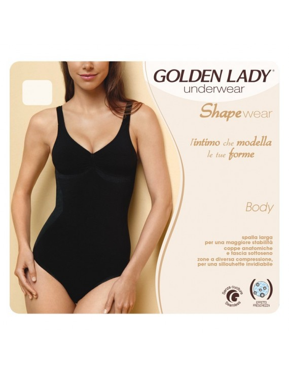 Body spalla larga Golden Lady