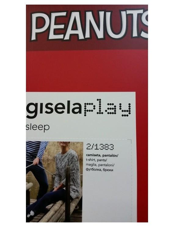 Gisela PEANUTS Pigiama Cotone art 1383