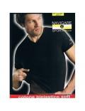 Navigare t-shirt uomo cotone bielastico scollo V art 571