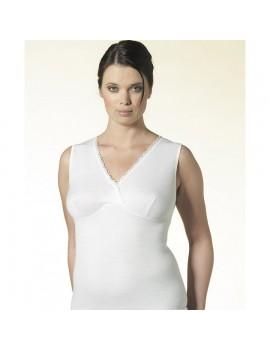 Nottingham canotta donna lana e cotone spalla larga forma seno art VL23