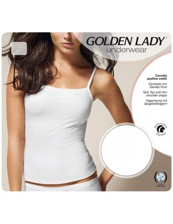 Canotta con spalline sottili Golden Lady